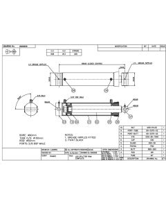 Double Acting Hydraulic Log Splitter Cylinder - Log Splitter 90mm Bore 50mm Rod 305mm Stroke