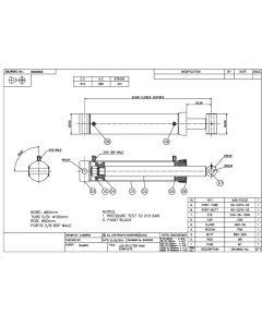 Double Acting Hydraulic Log Splitter Cylinder -  Log Splitter 90mm Bore 50mm Rod 341mm Stroke