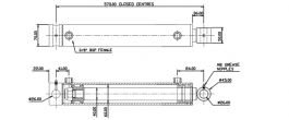 Hydraulic Cylinder 60mm Bore 40mm Rod  400mm Stroke - Ramko Top Seller